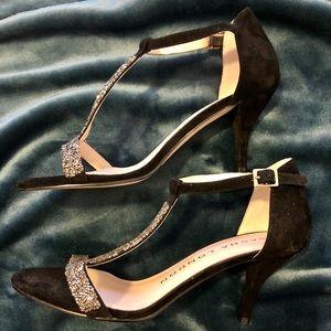Sacha London T-strap open toe heels sz 9.5